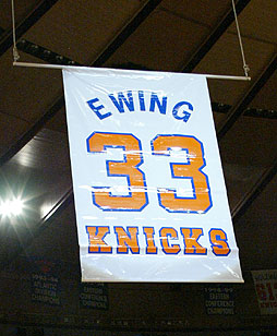 Ewing's Jersey Is Raised