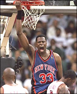 Ewing Hangs On The Rim