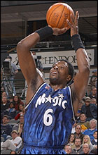 Ewing With His Patened Fadeaway Jumper