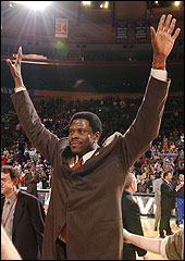 Ewing Waves To The Crowd